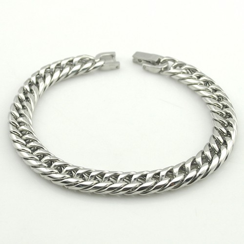 Boy's Men's Stainless Steel Link Chain Bracelet 16 Fashion Jewellery, Wholesale Free shipping, HB027 4