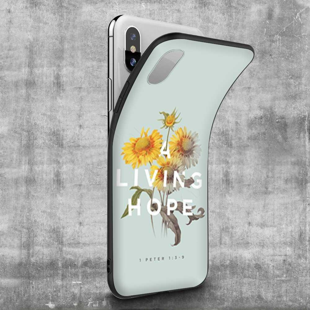 Étui pour iphone 11 Pro XS Max XR X 8 7 6 6S Plus 5 5s se Lavaza verset de la Bible philippiens jésus Christ chrétien
