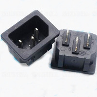 AC05 AC Power Socket Brass Card Embedded Three Pins Power Connector For Electric Kettle Socket