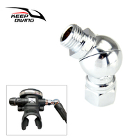 1 Piece Second Stage Swivel Adapter 360 Degree Rotation Swivel Diving Tool for Placing Breathing Tube Snorkel Scuba Accessories