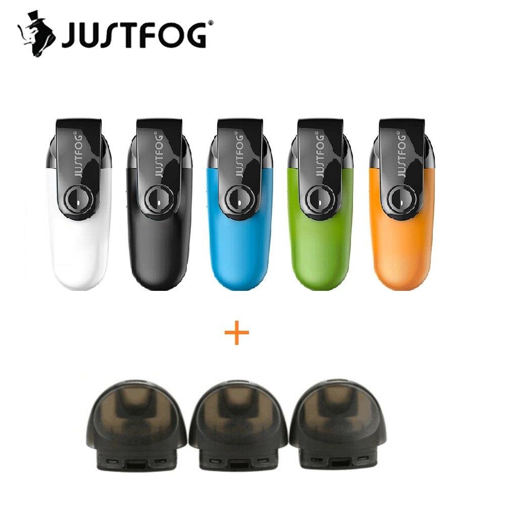 D'origine JUSTFOG C601 Kit w/1.7 ml Capacité Du Réservoir et 650 mah Batterie & anti-Poussière Cap Pod vaporisateur Kit Électronique Cigarette Vs Ego Aio
