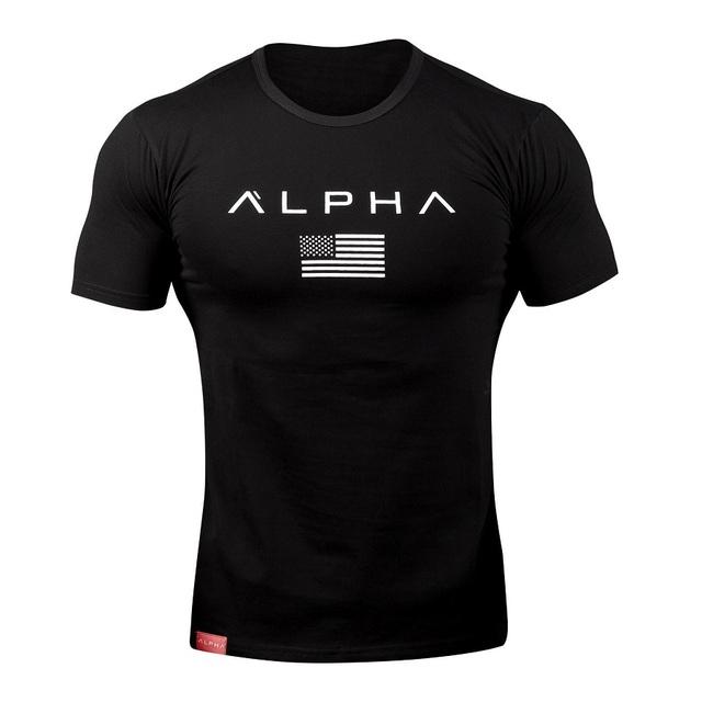 2018 Cotton Gym Shirt Sport T Shirt Men Short Sleeve Running Shirt Men Workout Training Tees Fitness Top Sport T-shirt Rashgard