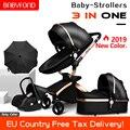 Безопасные детские коляска 3 в 1  высокое качество  искусственная кожа  для детей 0-36 месяцев  использование  высокое качество  детская коляск...