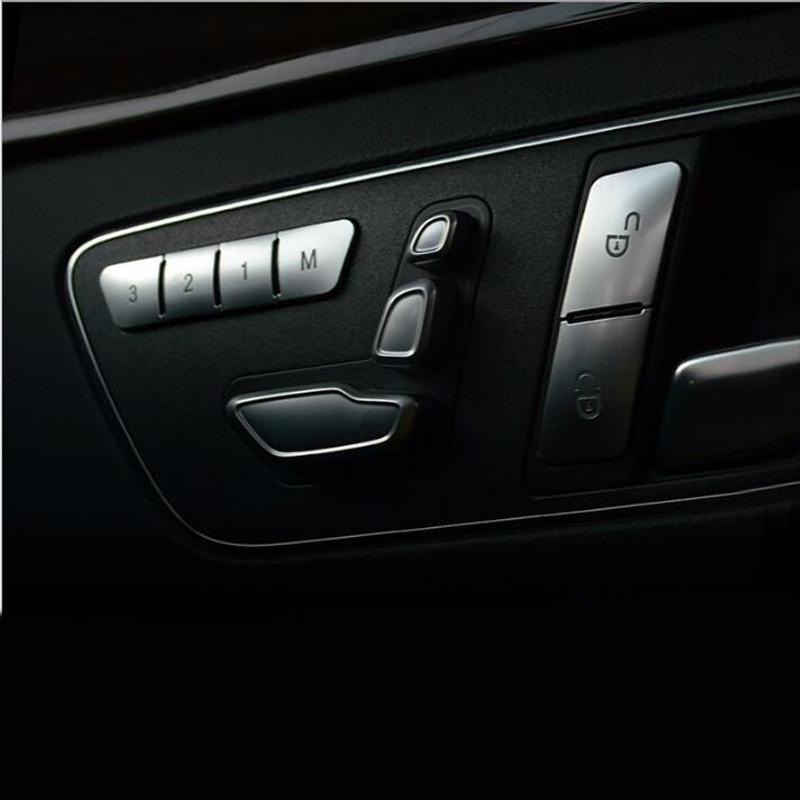 Car Styling Inner Door Seats Memory adjustment Push Button Trim Cover sticker for Mercedes-Benz CLA/GLA/GLK/GLE/CLS/GL/ML/A/B/E executive car