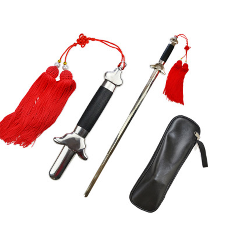 Telescopic sword stainless steel Tai chi kung fu martial art fitness performance products Get a tassel