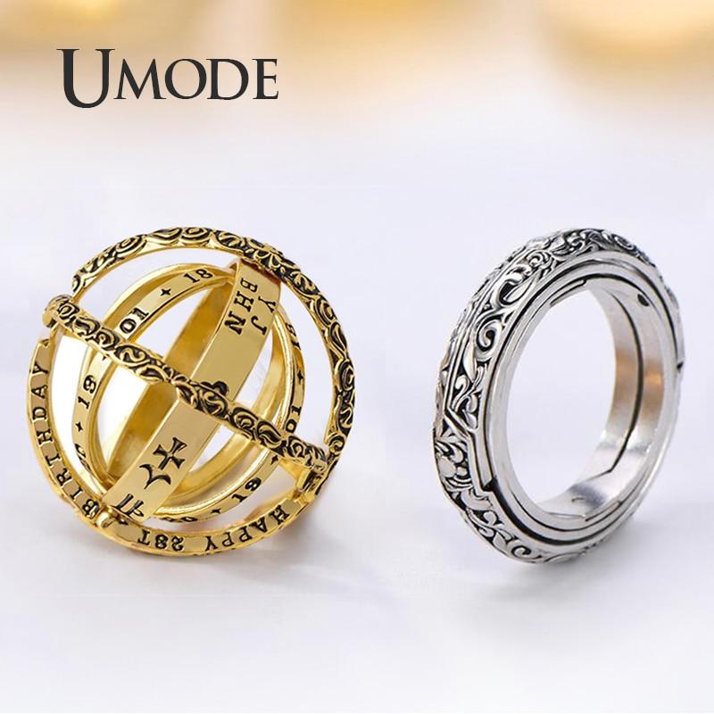 Astronomical Sphere Ball Ring Cosmic Finger Ring Couple Gift Lover Luckyfine Fas