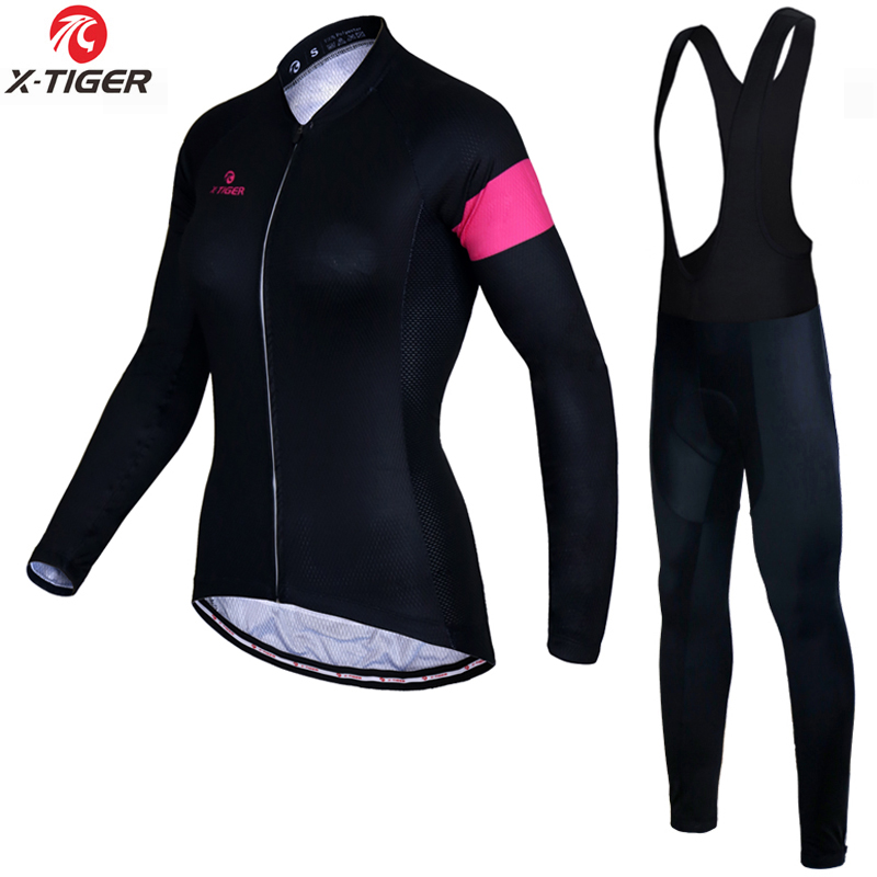 X Tiger Anti UV Autumn Cycling Clothing 100 Polyester Cycling MTB Bicycle Clothes Long Sleeve Women