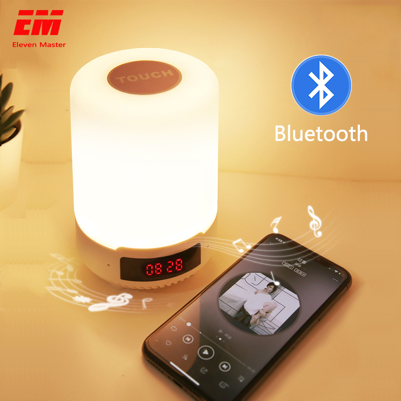 Livraison directe Bluetooth musique nuit lumière RGB app contrôle lampe de lit lampe à LED intelligent USB Charge intérieure décoration de la maison lumières ZYD0002
