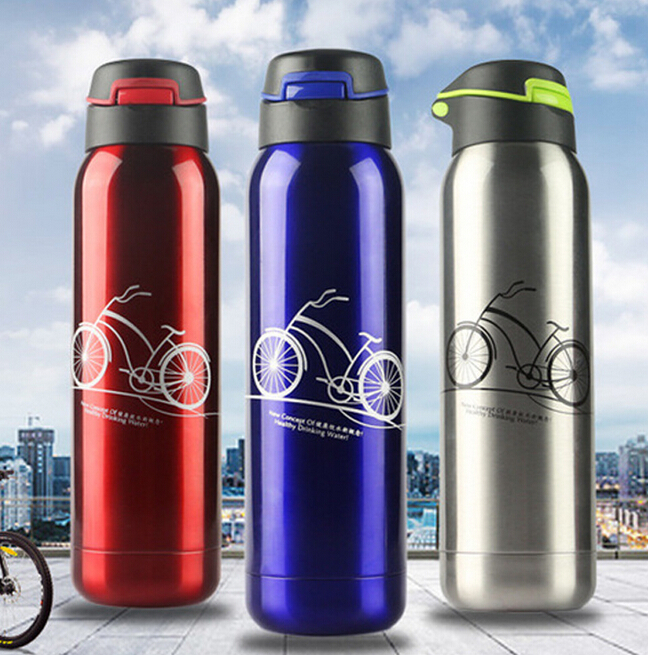 500ML 304 Stainless Steel Double Layers Sports Thermos Water Bottle 6 12 Hours Vacuum Flasks Garrafa