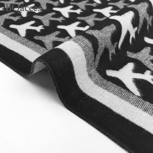Image 5 - New arrived women black white aircraft plane cashmere pashmina scarves female winter warm wool scarf brand high quality shawl