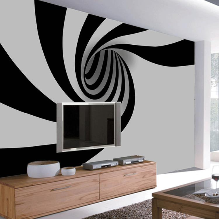 Free Shipping 3D Abstract fashion black white mural living room bedroom TV background wall sofa study lobby wallpaper mural  free shipping hepburn classic black and white photos wallpaper old photos tv background wall mural wallpaper