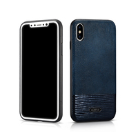 Original XOOMZ For Apple IPhone X Phone Cases High Quality Leather Silicone Slim Full Protection Back