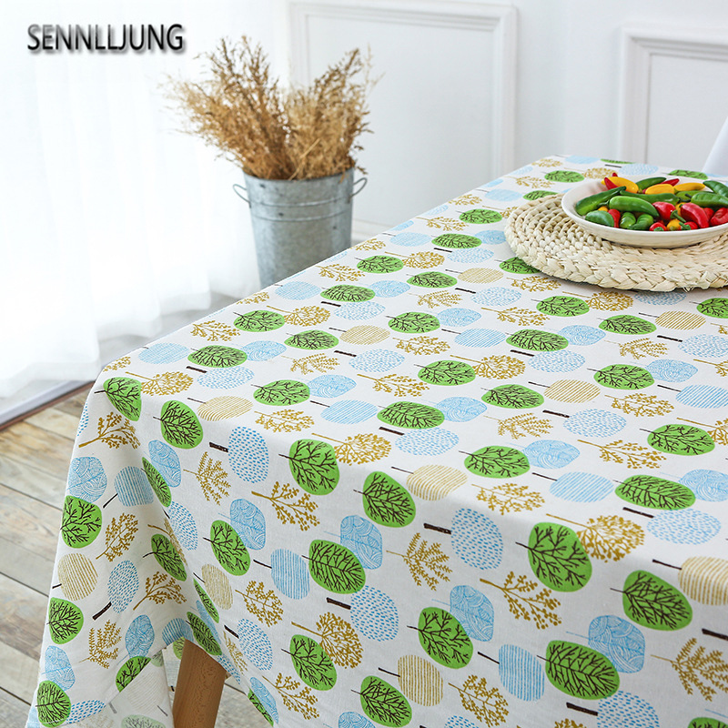 SENNLLJUNG Waterproof Oilproof Table Cloth Tablecloth For Table Dining  Kitchen Table Cover Protector OILCLOTH