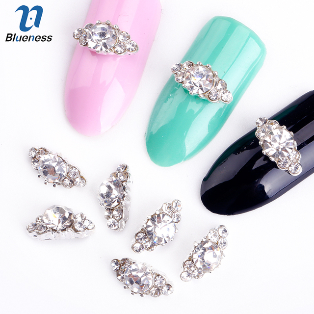 Bleu 10 pcs/lot 3d Nail Art Strass Pour Ongles Art Décoration DIY Nail  Accessoires