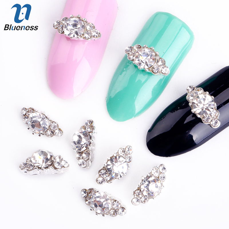 Blueness 10pcs/lot 3d Nail Art Rhinestones For Nails Art Decoration DIY Nail Accessories Alloy Nails Design Manicure Jewelry 1000pcs lot ab color marquise nail art rhinestones women decoration diy nail jewelry accessories 3d nail art supply tools wy505