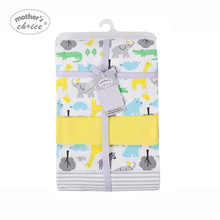 Mother's Choice 4 Pack Flannel Receiver Детские одеяла Новорожденный Swaddle Wrap Cotton Super Soft Boys Girls 75 * 100 cm Постельное бельё