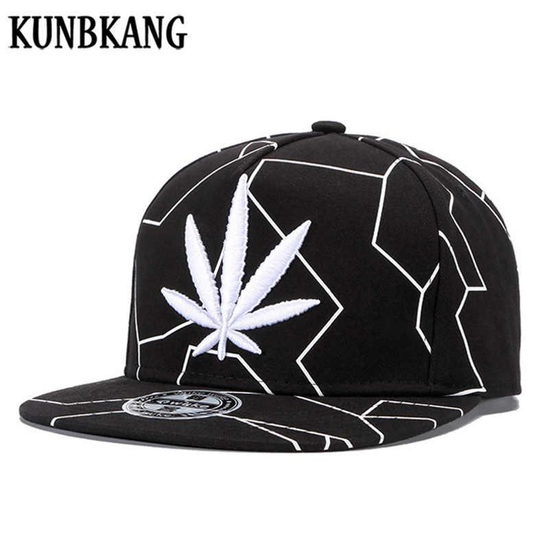 Yüksek Kaliteli Nakış Akçaağaç Yaprağı beyzbol şapkası Şapkalar Hip Hop Snapback Erkekler Kadınlar Düz Ağız Kemikleri Gorras Pamuk Ot Snapback Kapaklar