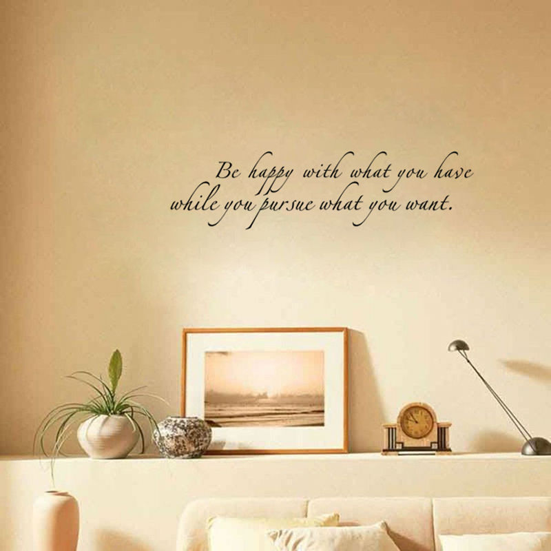 Be Happy With What You Have Diy Art Wall Sticker Home Decor For ...
