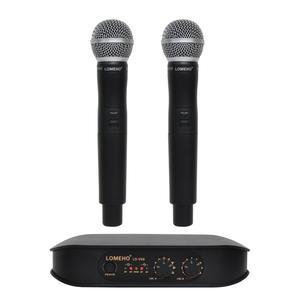 Image 1 - Lomeho LO V06 Dual Handheld VHF Frequenzen Dynamische Kapsel 2 kanäle Drahtlose Mikrofon für Karaoke System