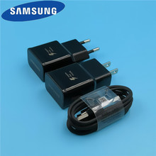 Original EU/US Samsung Galaxy s8 Charger travel adapter adaptive fast charging for S9 plus note 8 9 A5 2017 usb Type C Cable цены
