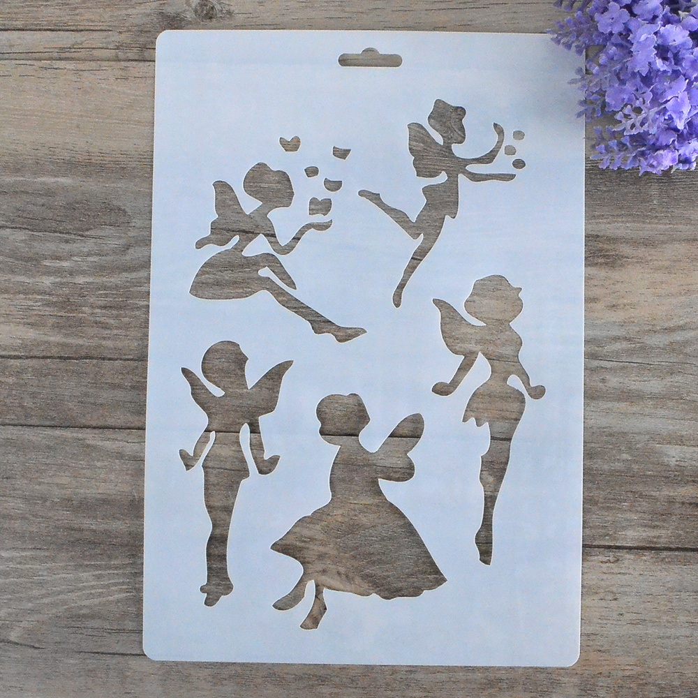 Girl stencils for walls gallery home wall decoration ideas compare prices on painting walls with stencils online shopping diy craft angel girl fairy layering stencils amipublicfo Image collections