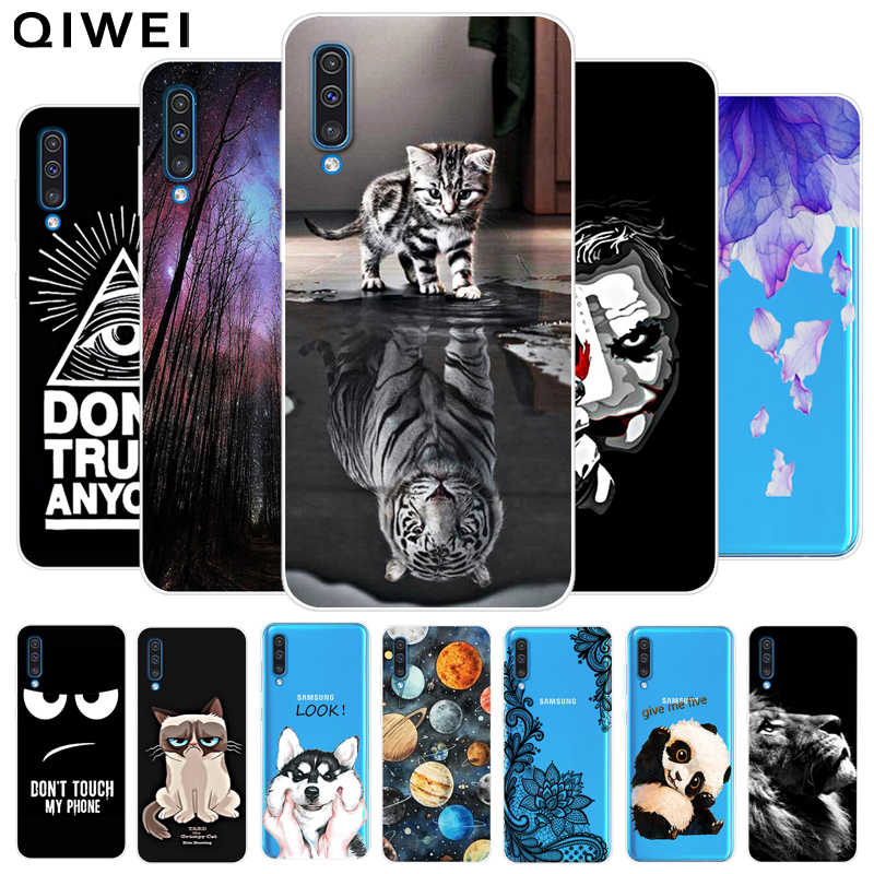 For Samsung A50 Case Animals Soft TPU Clear Bumper Coque For Samsung Galaxy A50 Silicone Phone Back Cover Capas A 50 A505 A505F