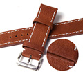 100% Genuine Leather Watch Strap 20mm 22mm Watch Band Brown Watchband Watch Band Strap Stainless Steel Buckel Clasp Belt