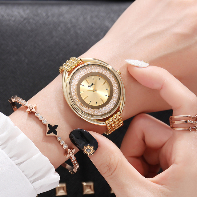 Top Brand zivok Luxury Ladies Wrist Watch Women Gold Fashion Lovers Quartz Brace