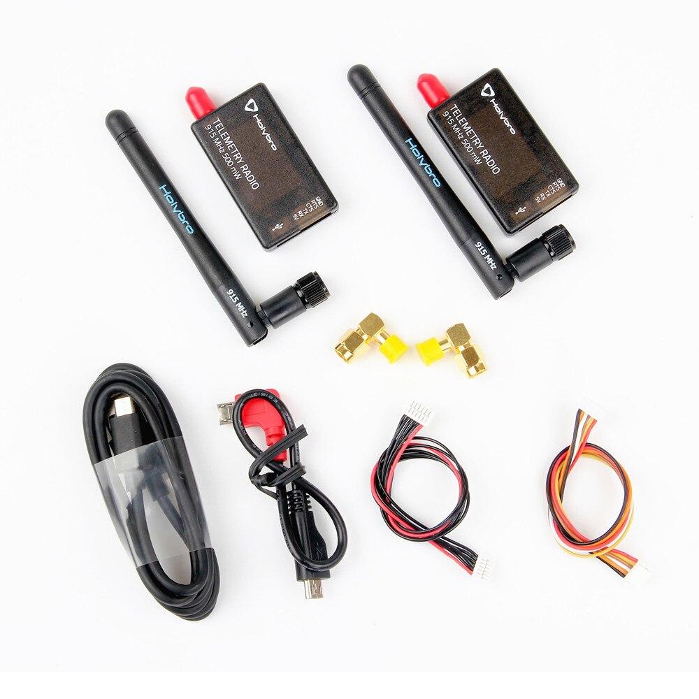 Mais quente em 2019 Holybro 433 Mhz 915 Mhz 500 mW Transceptor de Rádio Telemetria Set 4 V3 para PIXHawk Controlador de Vôo -915 MHz