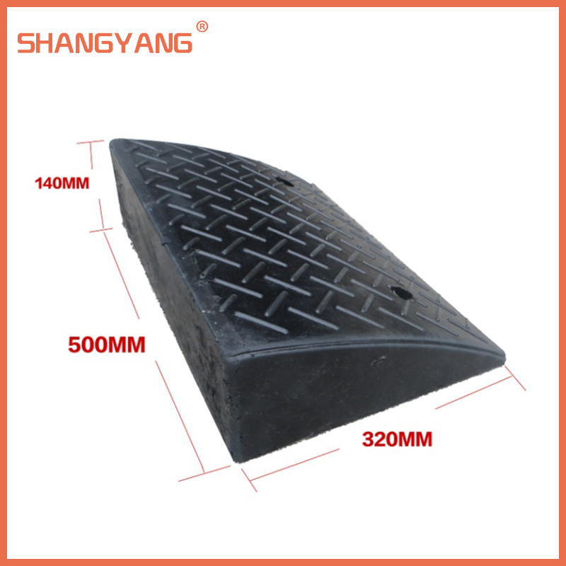 PANGPANGDEDIAN Safety ramp Rubber Slope Pad Door Ramps Step Mat Home Threshold Slope Pad Trolley Uphill Pad Deceleration Zone Color : Black, Size : 10062CM