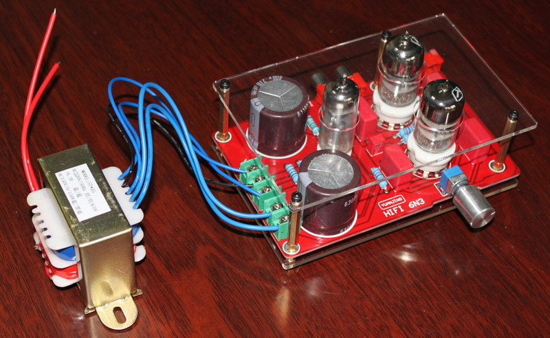 ФОТО 6N3 bile rectifier tube preamp streaking version ( with transformer )