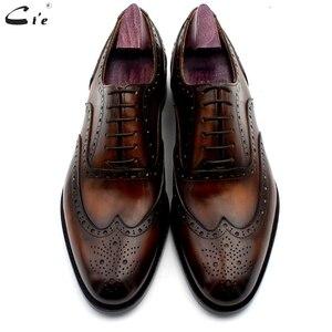 Image 5 - Cie oxford patina kahverengi brogues elbise ayakkabı hakiki dana derisi taban erkek deri iş ayakkabı el yapımı hızlı teslimat No. 20311