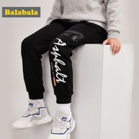 Balabala Boys Fleece Lined Printed Pull on Joggers Pull on Sweatpants Sport Pants with Side Pocket Ribbing at Waistband and Hem