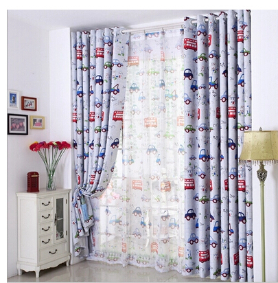 Child Boy Bedroom Cartoon Curtain High Quality Curtain Blue Car Child  Cartoon Curtain Cloth Sheer Curtains ...