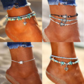 IF YOU Bohemia Turtle Pendant Anklets Bracelet for Leg For Women Sexy Fashion Summer Beach Shell Men Anklet Jewelry 2019 New