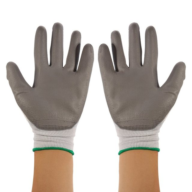 NEW Safurance 12Pairs PU Nitrile Coated Safety Work Gloves Garden Builders Grip Size M/L/XL Workplace Safety Protection
