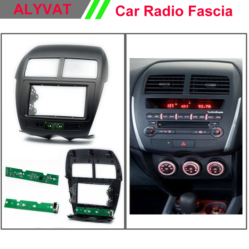 double din car dvd cd radio fascia for mitsubishi asx rvr 2012 stereo fascia dash cd trim. Black Bedroom Furniture Sets. Home Design Ideas