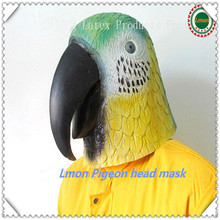 2016 Top Design And Hot Sale Animal Mask Realistic Parrot Mask For Halloween Party Full Head For Adult in stock Toys Mask
