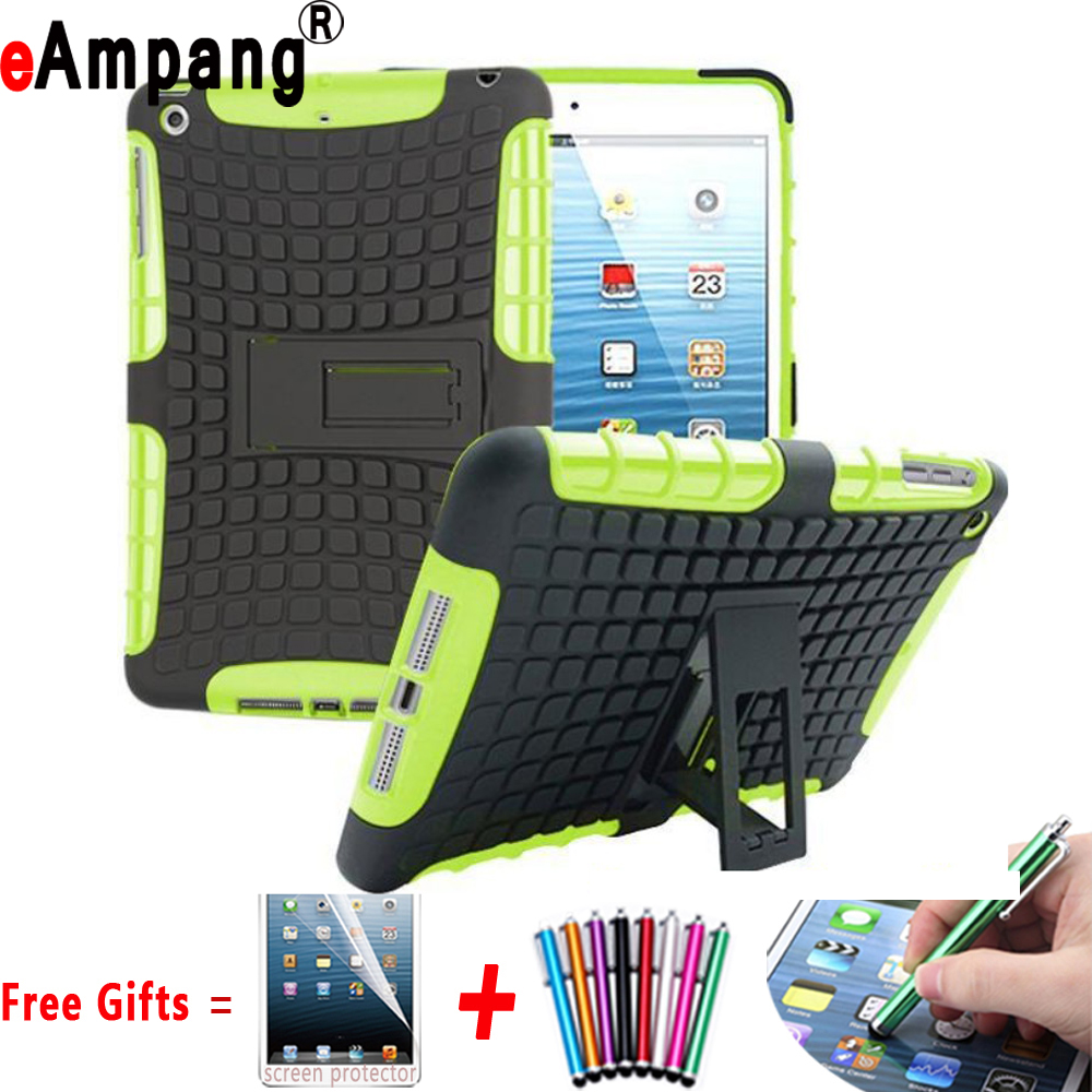 New Tire Pattern Hard Back Case Combine Silicon Cover Case for Apple iPad 2 3 4