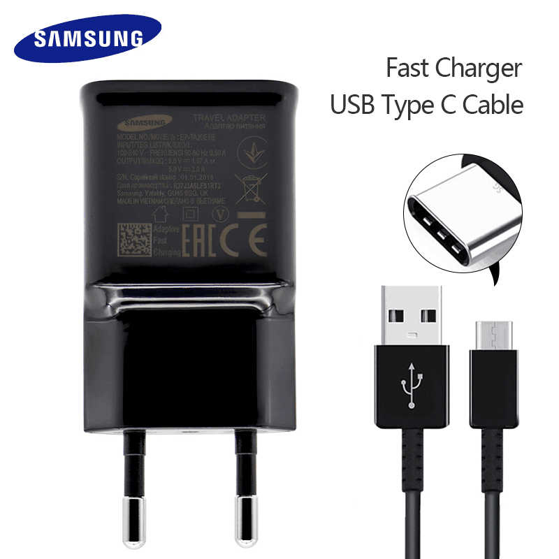 Samsung Galaxy S9 S8 S8 Plus note 8 Original Adaptive Fast Charger Travel  Adapter EU US UK 9V1 67A&5V2A Quick Charger 3 0 Type-C