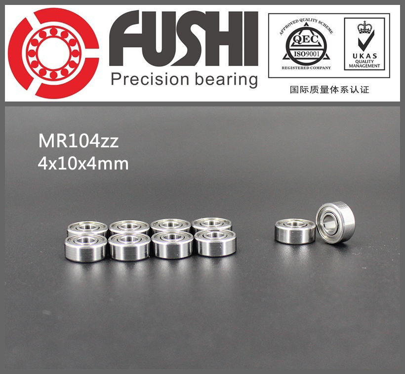 MR104ZZ Bearing ABEC-1 (10PCS) 4*10*4 mm Miniature MR104 ZZ Ball Bearings L-1040 X2ZZ MR104Z mr148zz bearing abec 1 10pcs 8 14 4 mm miniature mr148 2z ball bearings mr148 zz l 1480zz mr148z
