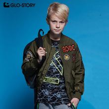 GLO-STORY Teens Kids Thick Warm Winter Bomber Jackets Coats Boys Full Zipper Parka  BMA-6146