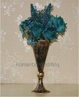 Free Shipment 10PCS Lots Trumpet Style Classic Flower Vase Centerpeice For Wedding Decoration