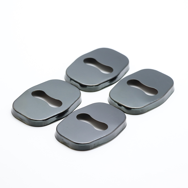 4PCS Auto Case Stainless Protective Cover Steel Door Lock Buckle For <font><b>Peugeot</b></font> <font><b>5008</b></font> <font><b>2010</b></font> 2011 2012 2013 2017 2018 Car Styling image