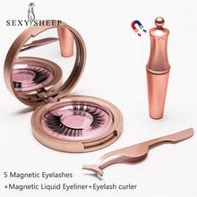 a5b8e479c5a 5 Magnetic Eyelashes natural False Eyelashes Magnet Lashes Magnetic Liquid  Eyeliner & Magnetic False Eyelashes &