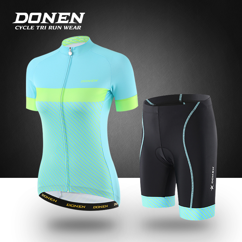 DONEN Summer Women MTB Bike Cycling Sets Clothing Mountian Bicycle Clothes Quick-Dry Cycling Jersey Sets Ropa Ciclismo veobike 2018 pro team summer big cycling set mtb bike clothing racing bicycle clothes maillot ropa ciclismo cycling jersey sets