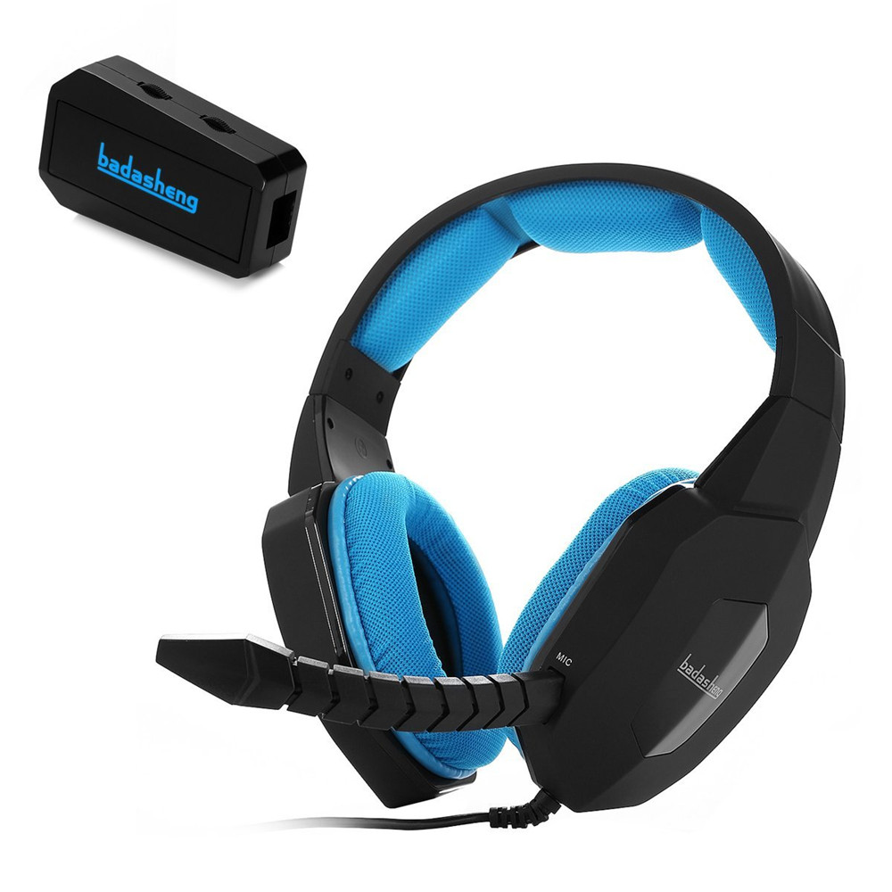 badasheng BDS-939G Stereo Sound Gaming Headset Headphone For PS4,Xbox One Console With Using of Microsoft Adaptor,LED,for PC,MAC huhd 7 1 surround sound stereo headset 2 4ghz optical wireless gaming headset headphone for ps4 3 xbox 360 one pc tv earphones