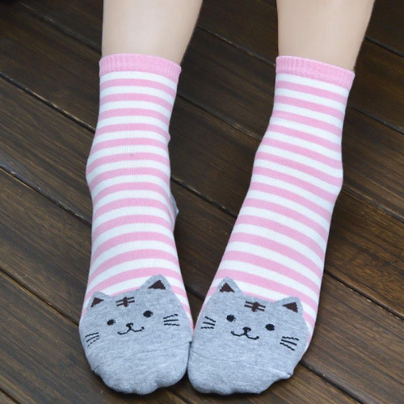 Cute Socks With Cartoon Cat For Cat Lovers Cute Socks With Cartoon Cat For Cat Lovers HTB1S5AFQVXXXXafXXXXq6xXFXXXb