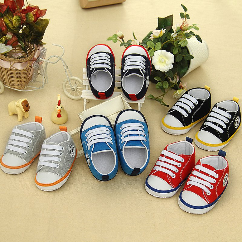 Toddler Baby Girls Boys Soft Sole Crib Shoes Non-slip Sneakers First Prewalkers 0-18M