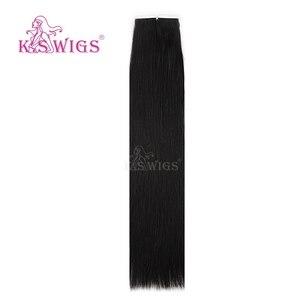 Image 5 - K.s perucas, 10 peças de cabelo humano reto remy para extensão de cabelo 16 20 24